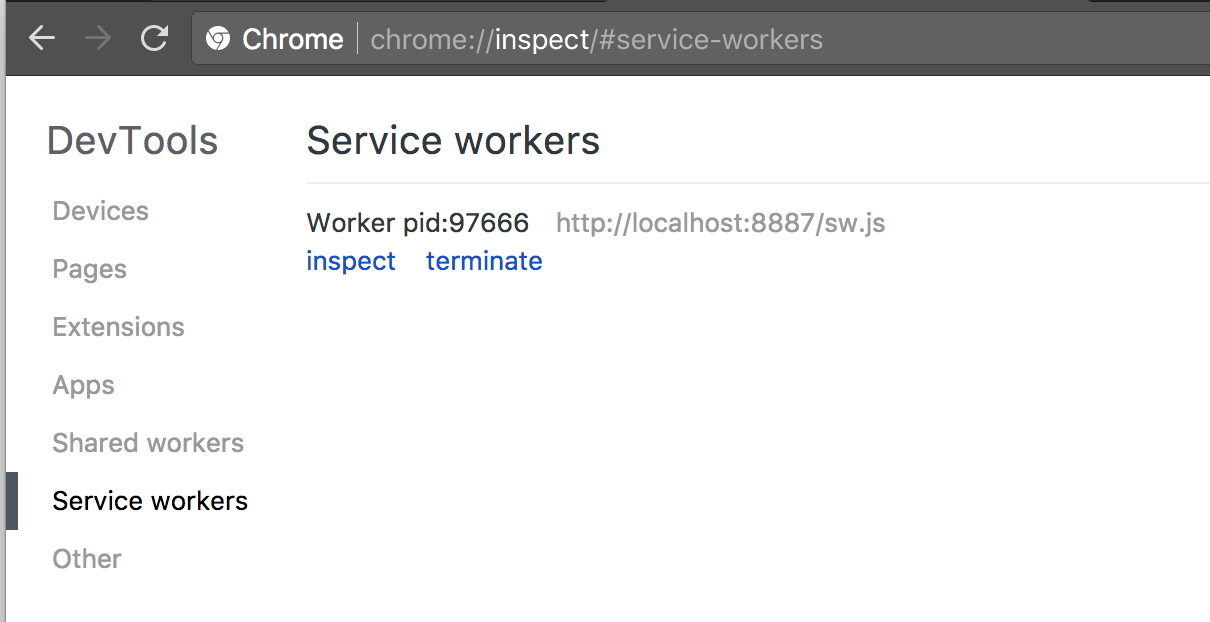 chrome://inspect/#service-workers
