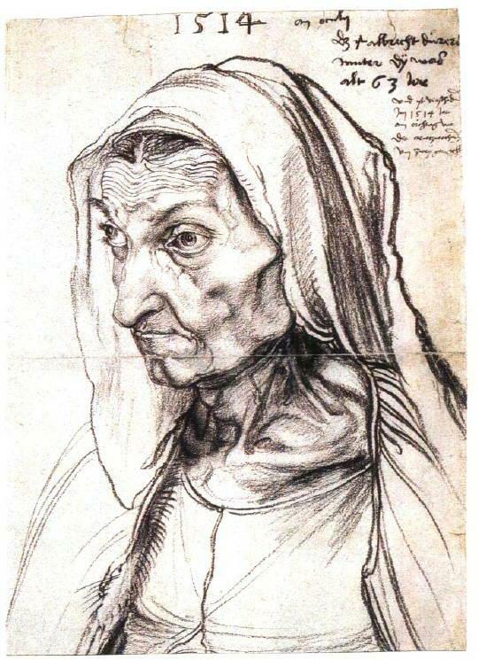 丢勒·画家之母肖像