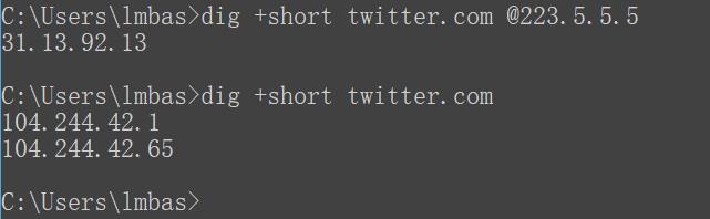twitter A记录解析结果
