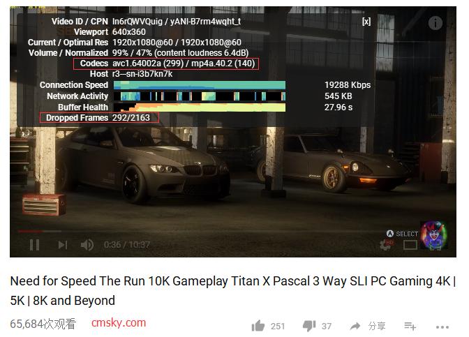 Chrome插件推荐-h264ify 缓解看YTB高分辨率60fps视频丢帧情况