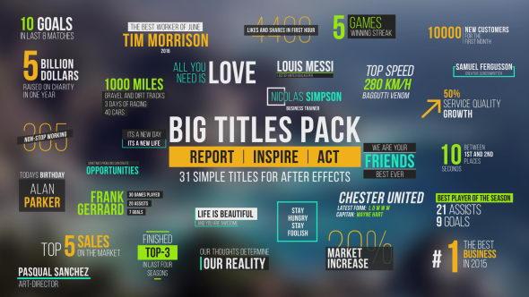 31种个性文字标题排版动画合集_Big Titles Pack