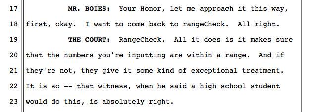甲骨文的律师试图继续发言,但只是让法官变得越来越不满
