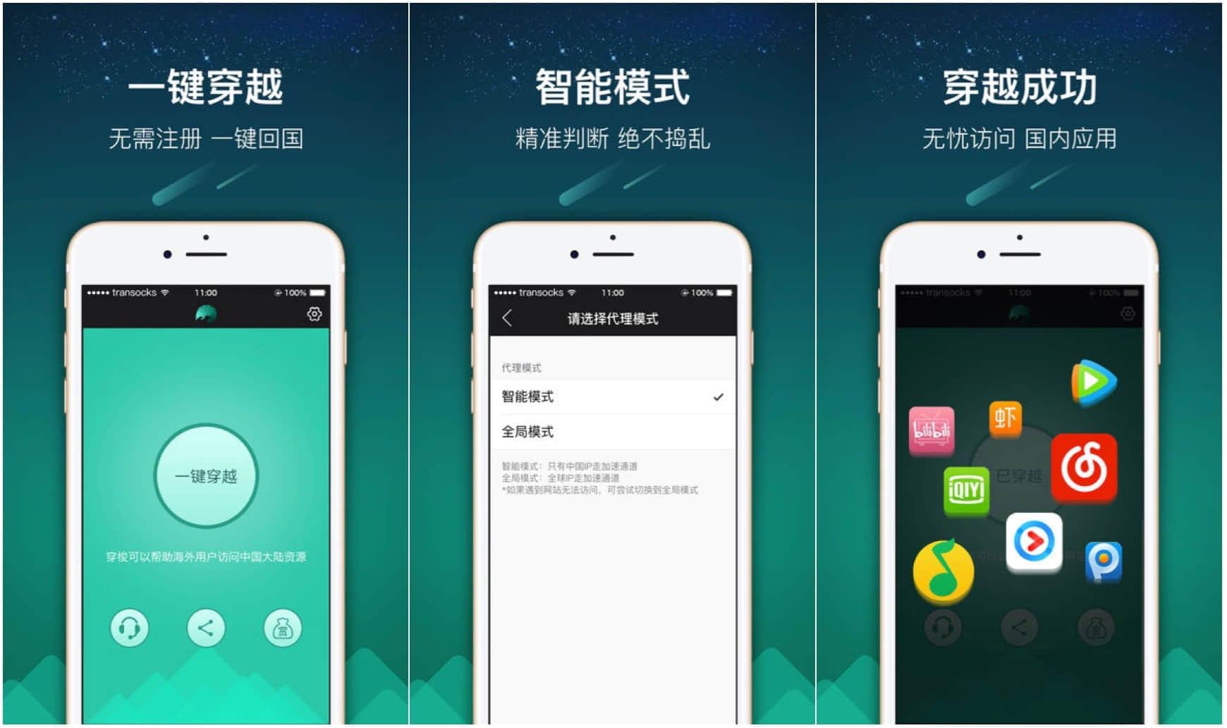 穿梭Transocks:帮助海外华人访问国内应用更迅捷
