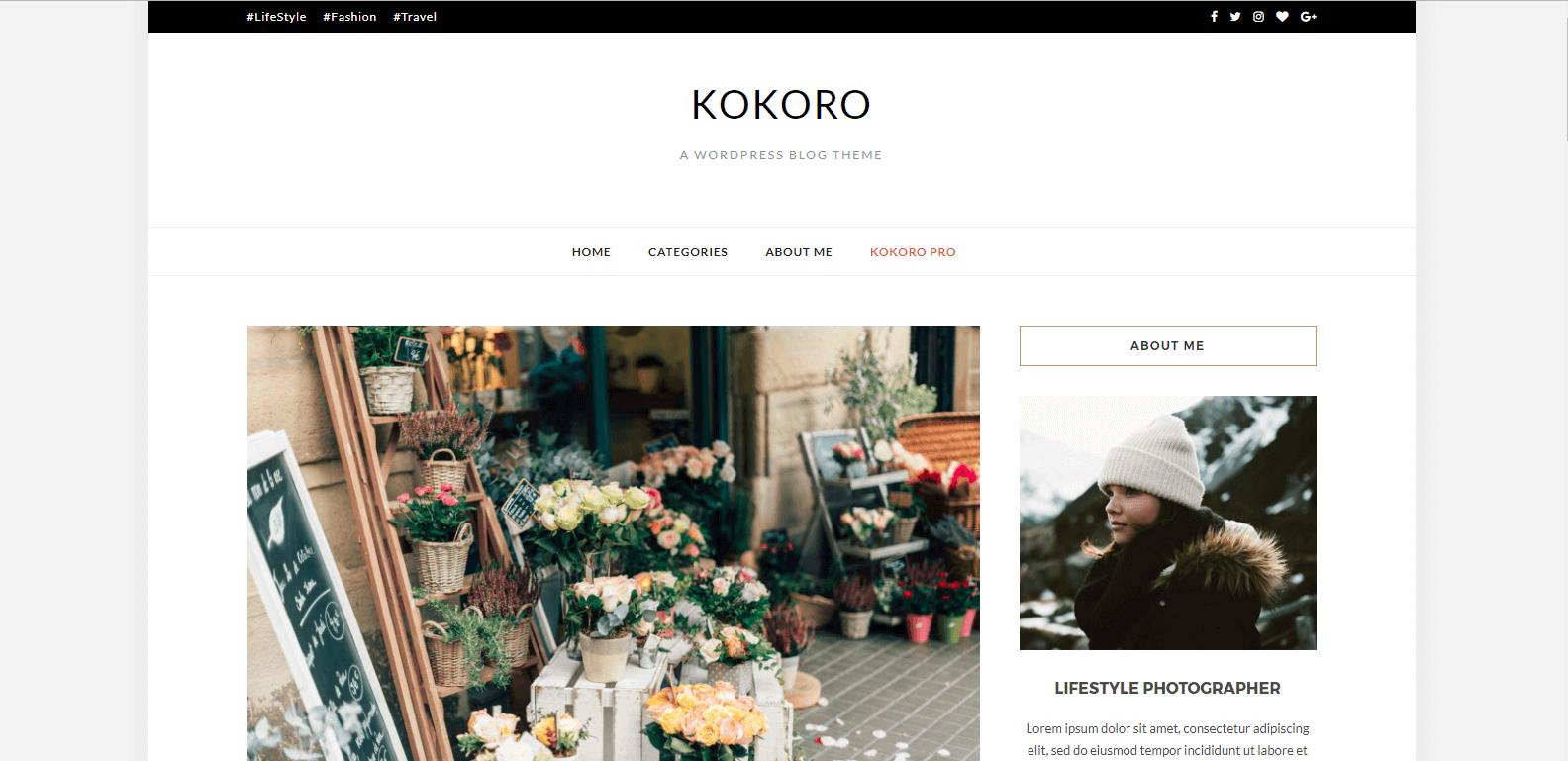 WordPress博客主题:Kokoro 汉化版