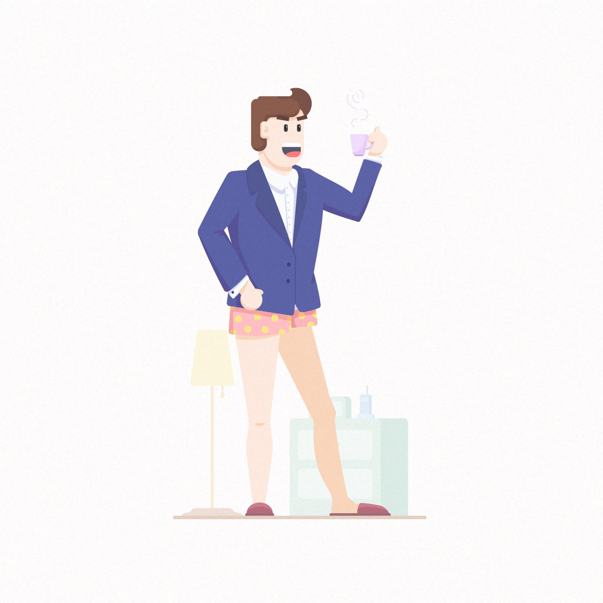 扁平风格插图_李瑞东设计