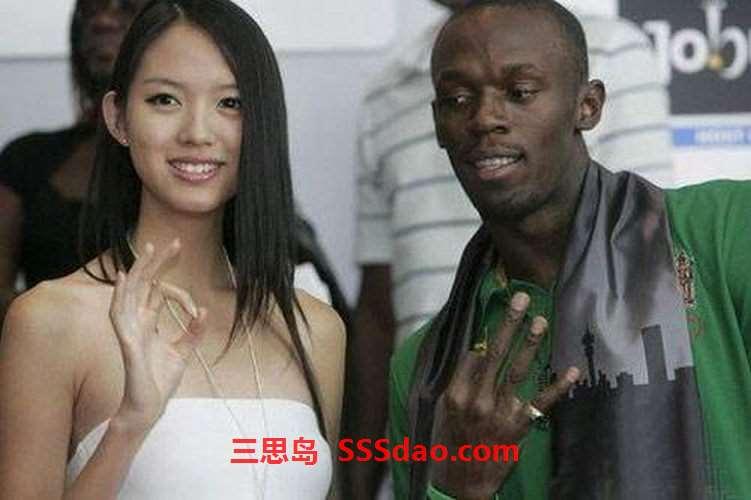 非洲黑人、中国女人、外国男人