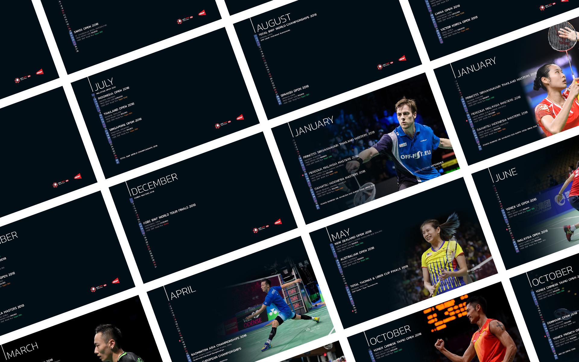 BWF Tournaments Calendar 2018 cover