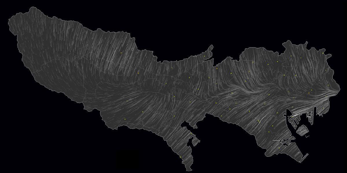 Tokyo Wind Map, Tokyo Wind Speed, 东京风图, 东京风速