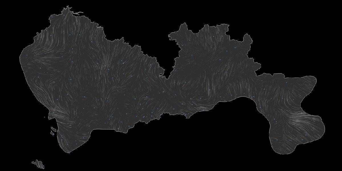 Shenzhen Wind Map 深圳风图