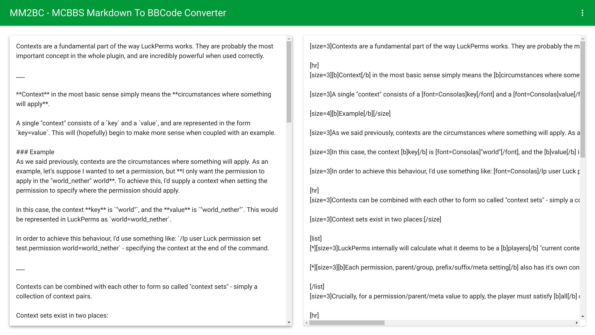 MM2BC —— MCBBS Markdown To BBCode Converter[InfStudio] - 软件资源