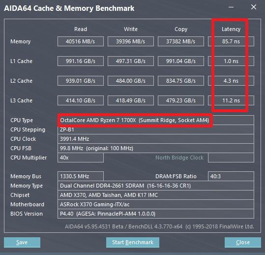hwbattle:AMD Ryzen 2700X vs Ryzen 1700X@2666MHZ Benchmark(Latency