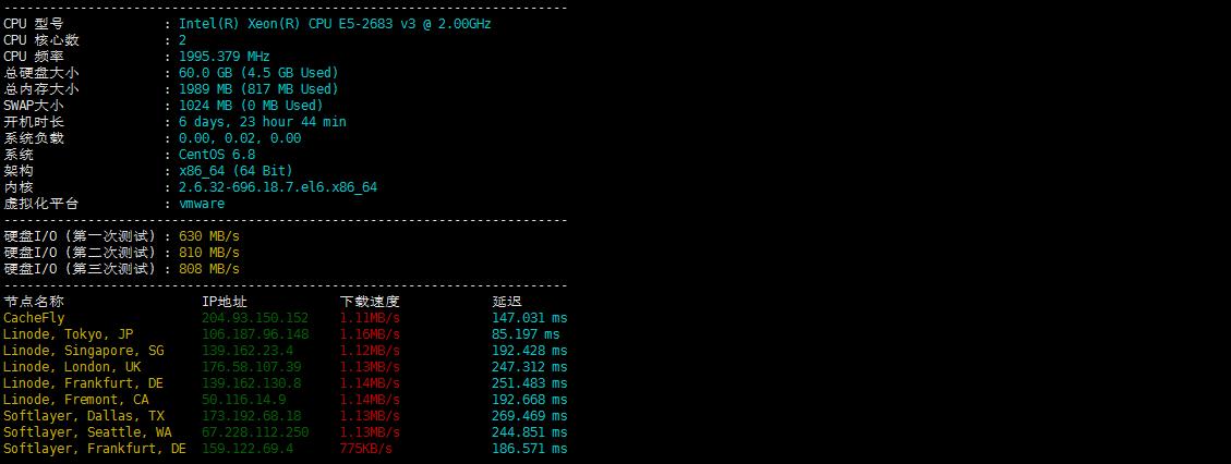 Linux服务器/VPS一键性能/网络连接测试脚本,测试国内外连接速度 折腾 第2张