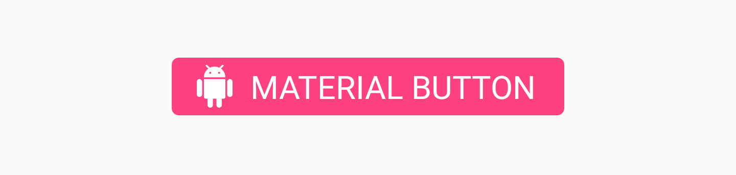 Materail Button with app:icon attribute