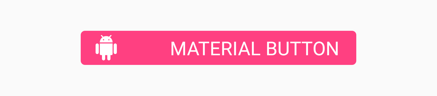 Materail Button with app:iconPadding attribute