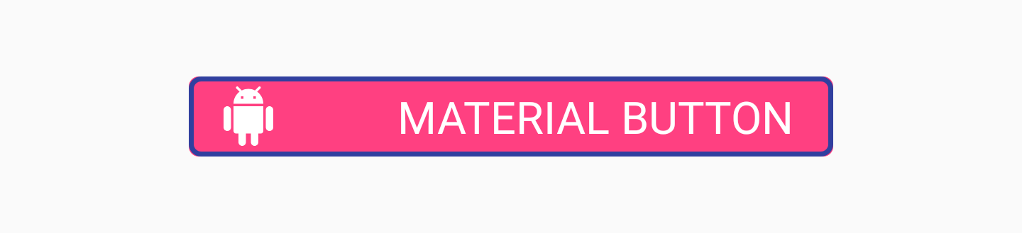 Material Button with app:strokeWidth attribute