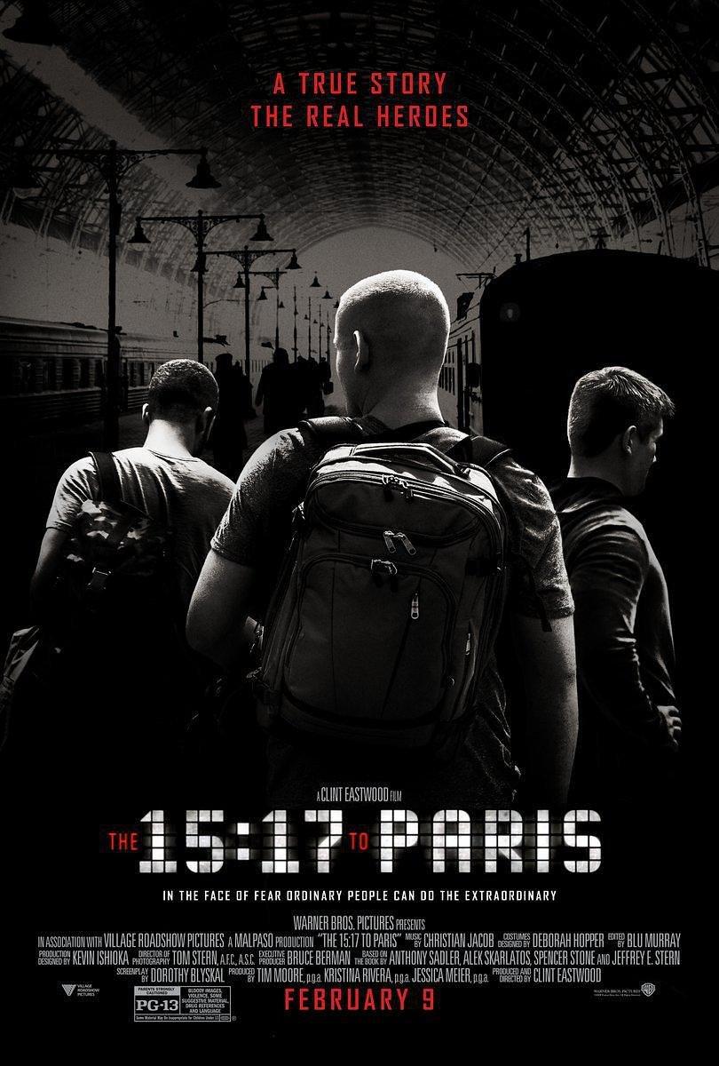 15点17分,启程巴黎/巴黎列车剿恐记电影高