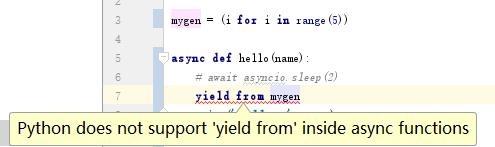 async 中 不能使用yield