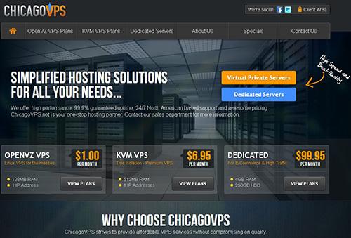 羊毛党之家 ChicagoVPS:$5/月/2GB内存/60GB空间/2TB流量/KVM/洛杉矶/纽约