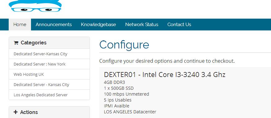 羊毛党之家 DexHost E3-1220v5 16GB内存 1Gbps不限流量 洛杉矶 独立服务器 测评
