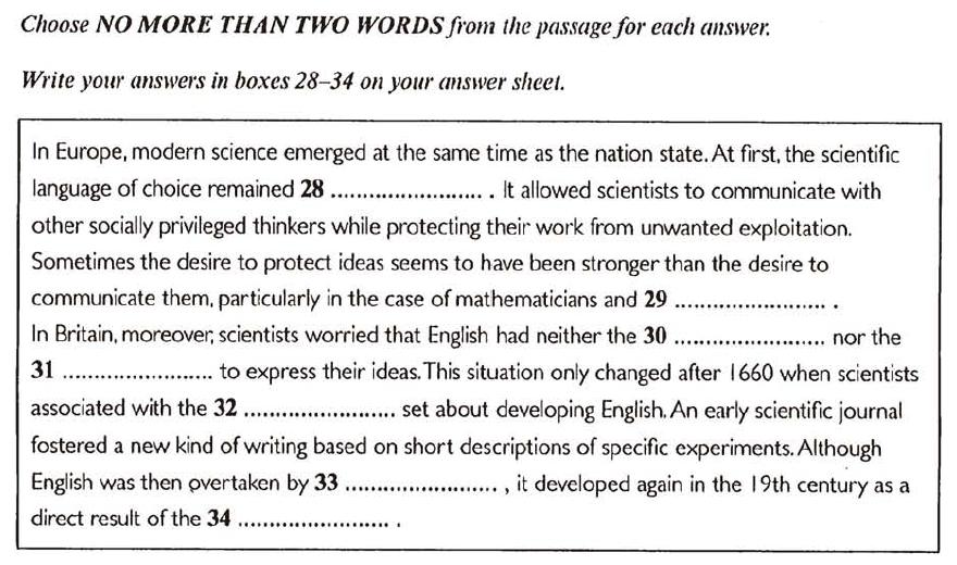 雅思阅读技巧 总结摘要题summary该怎么做