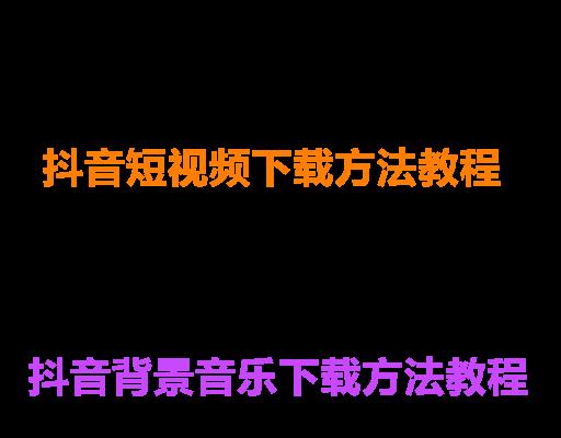 抖音短视频下载教程