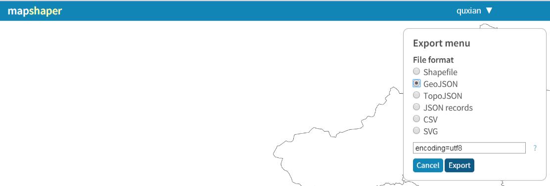 使用mapshaper转了geojson,加载的时候报错request has failed