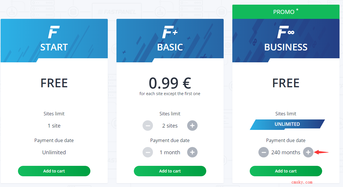 Fastpanel 建站面板商業版限時免費