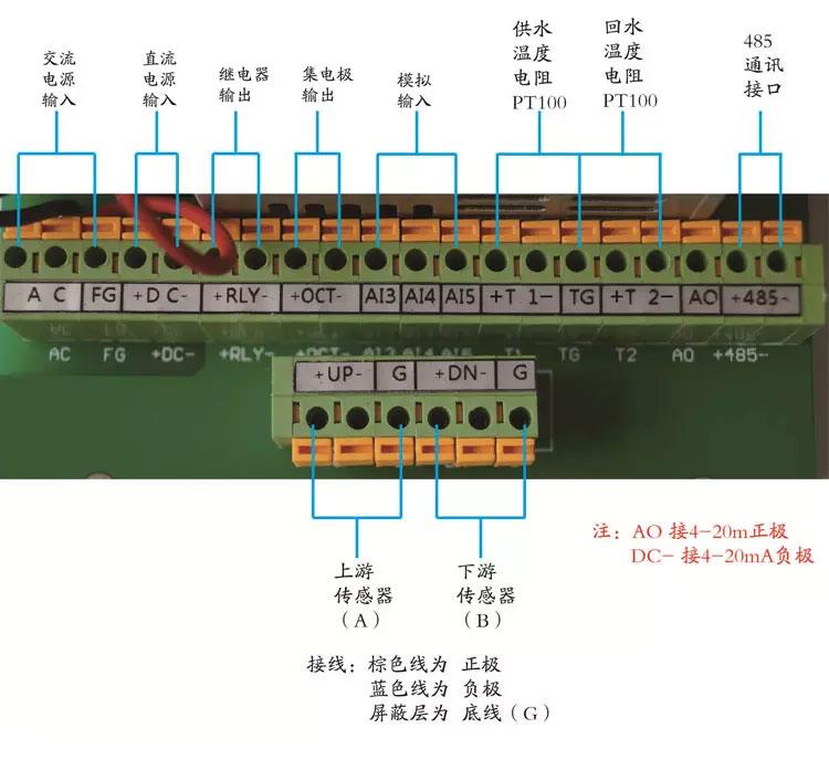 外夹式超声波流量计接线安装