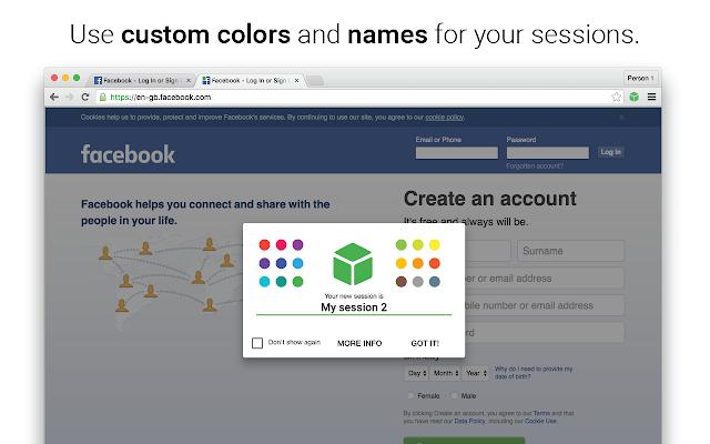 SessionBox 一个网站同时登录多个账号的Chrome扩展