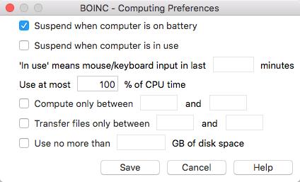 Mac 版的设置界面,可以对启动时间、CPU占用等进行设置,相较 Winodows 版设置选项少了很多