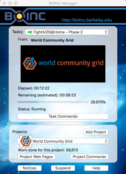 BONIC 应用的主界面,会显示目前正在进行的项目