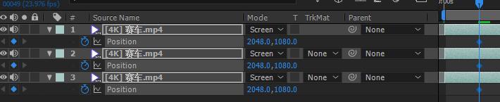 08把指针在想要加效果的位置然后全选层 按P键 点上秒表记录关键帧.jpg