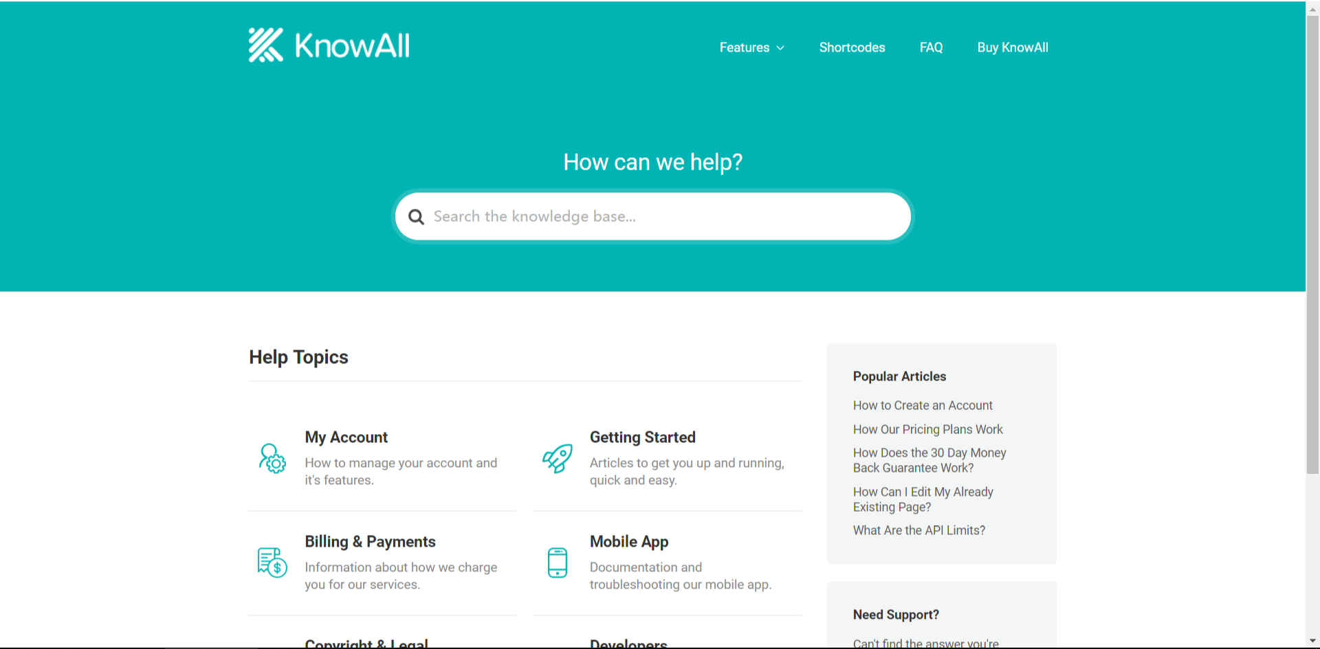 wordpress知识库主题 knowall