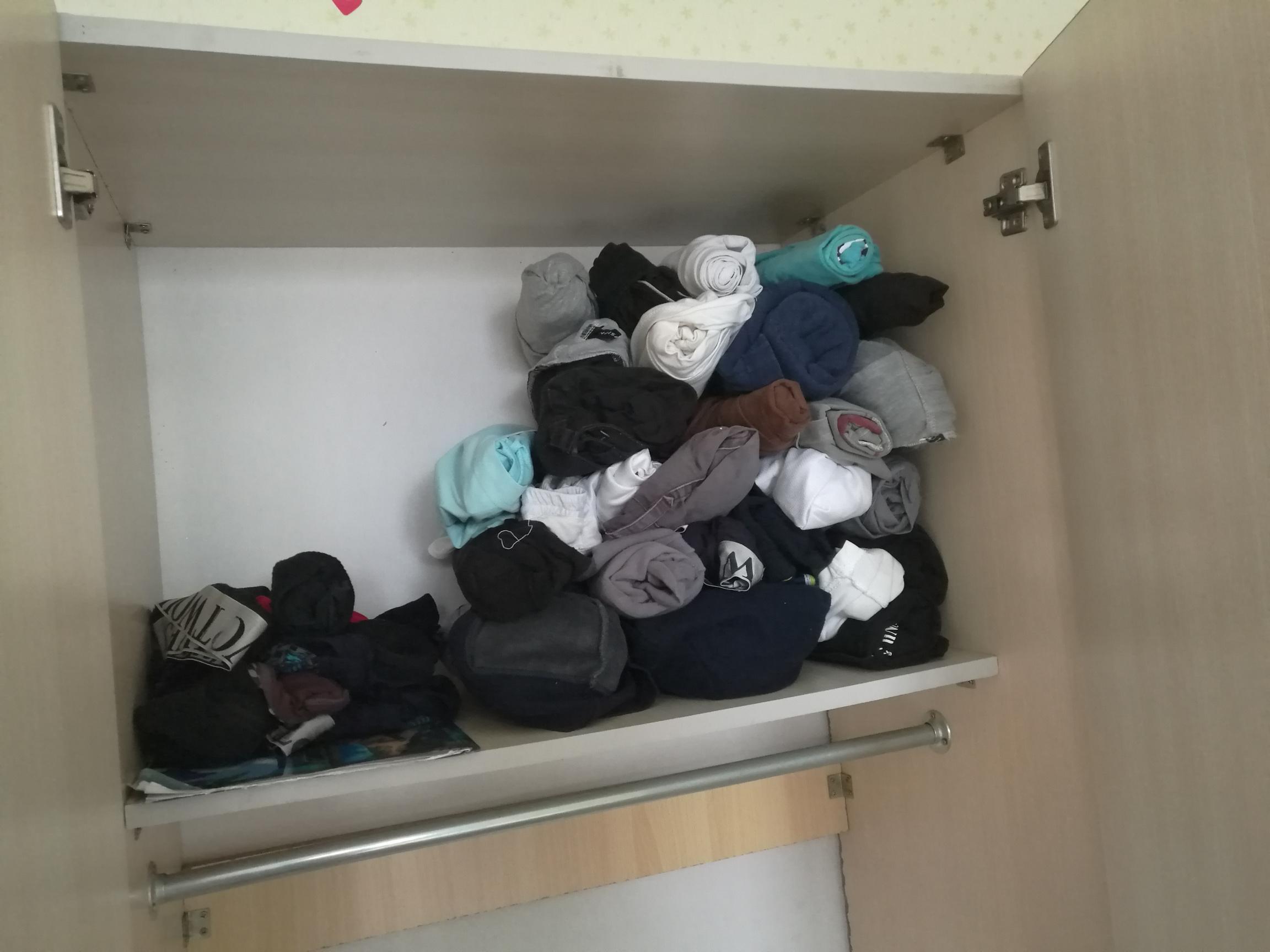 图5-2 不懂的自行找叠衣服教程,不这样我根本装不下二十多件