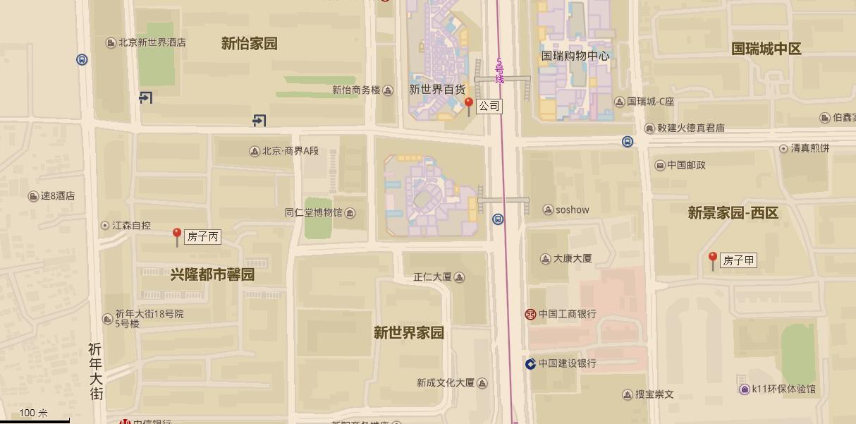 图6-1 丙房的地理位置