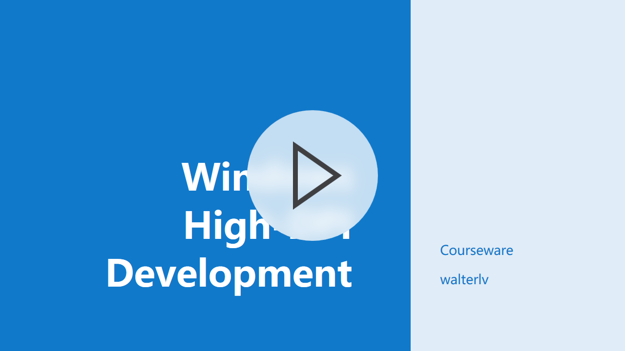 Windows 高 DPI 应用开发课件