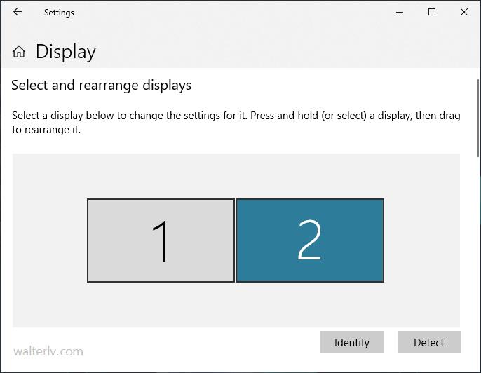 Windows 10 中的多个屏幕选择
