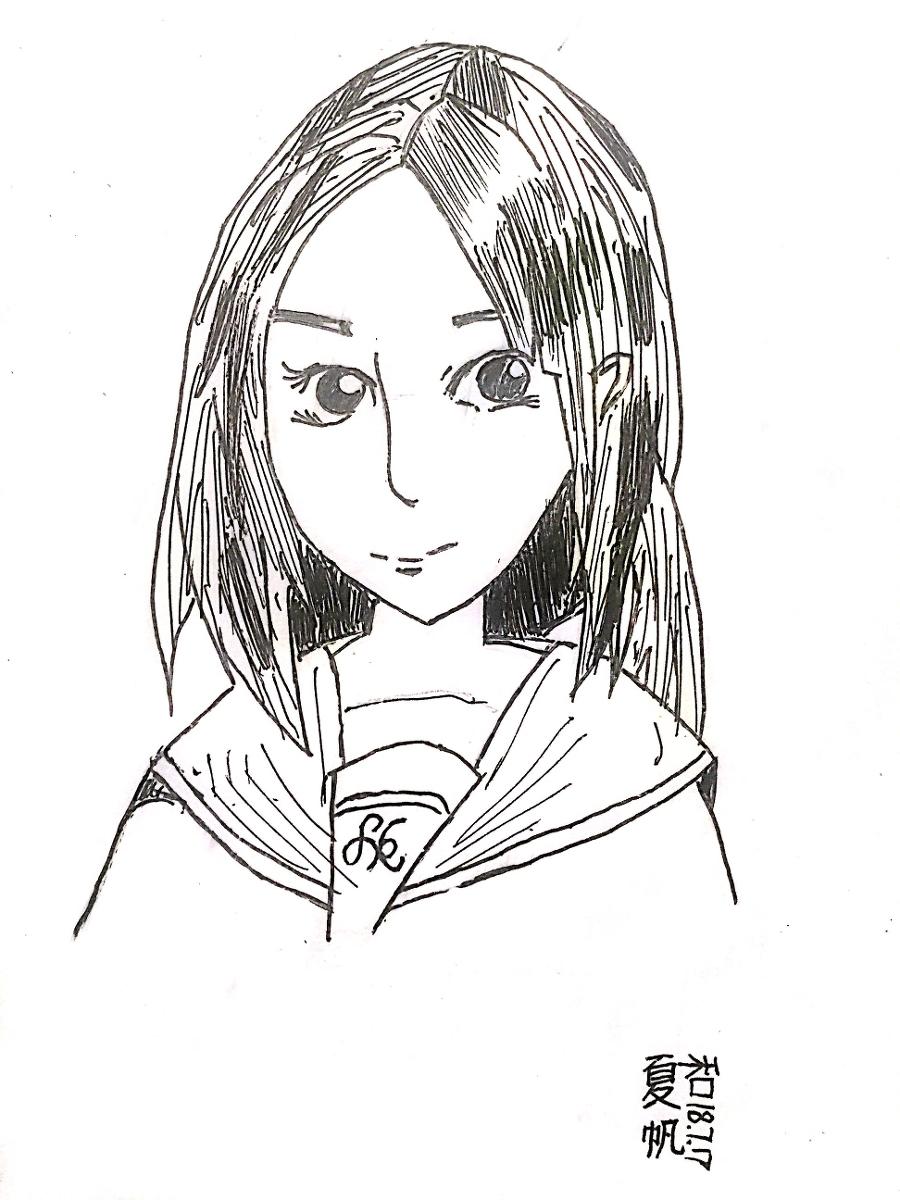 手绘作品 – 水手服女孩