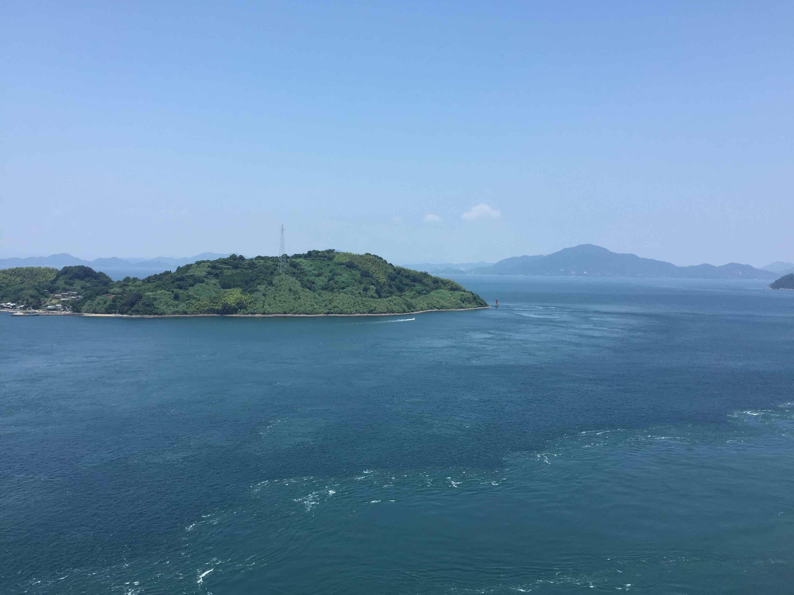 今治市来岛大桥拍摄的濑户内海
