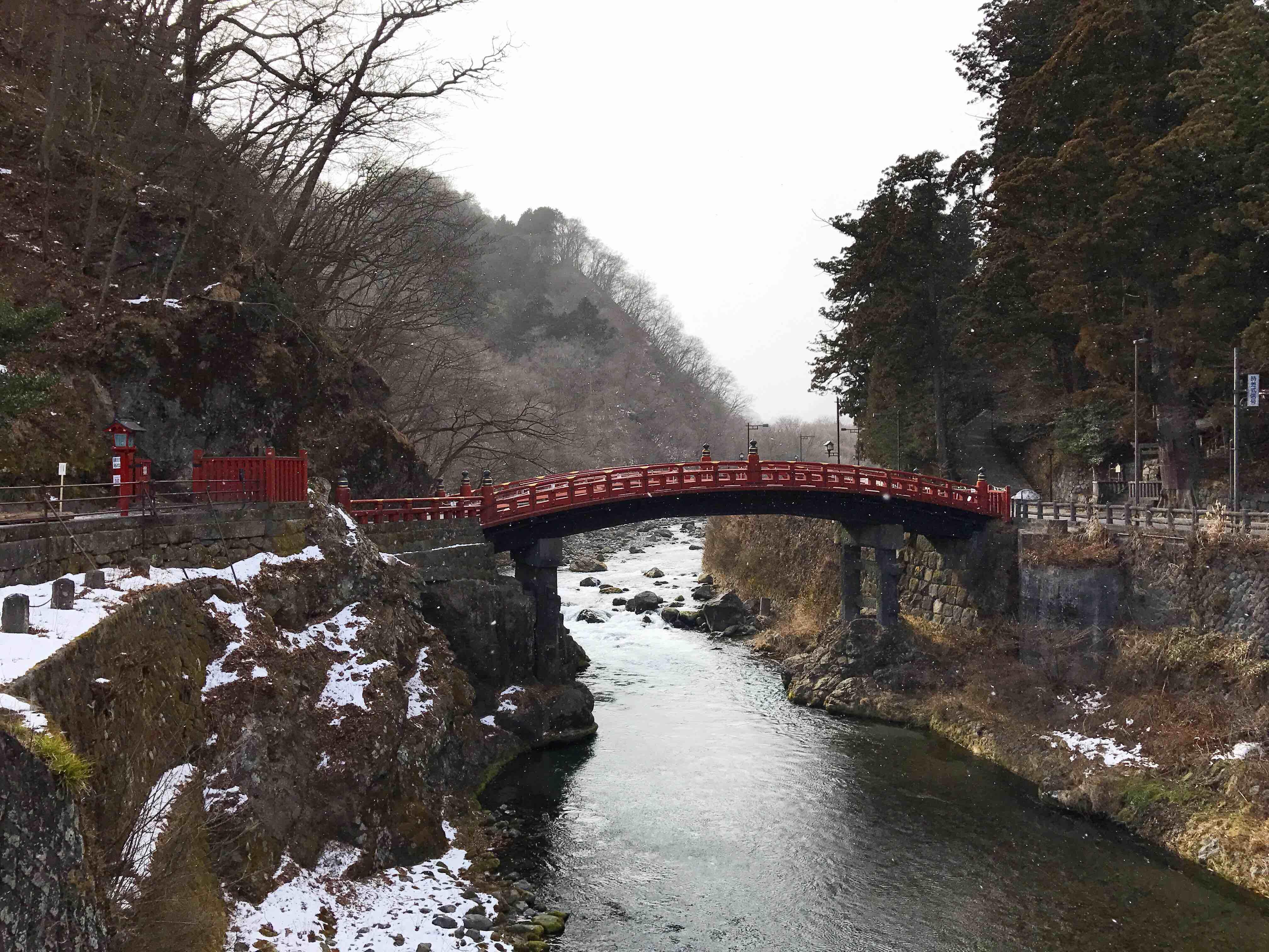 雪中的日光二荒山神桥