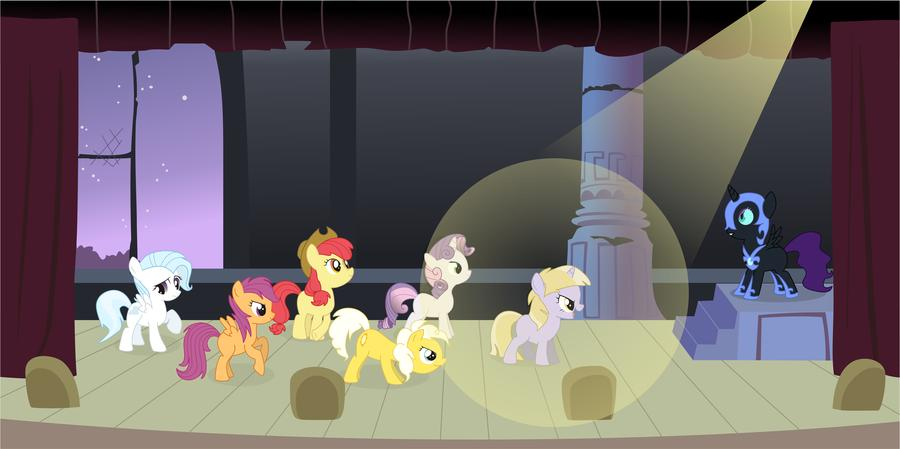 21308__safe_artist-colon-drakodarker_apple+bloom_cotton+cloudy_dinky+hooves_scootaloo_sunny+daze_sweetie+belle_oc_oc-colon-nyx_past+sins_play.jpg