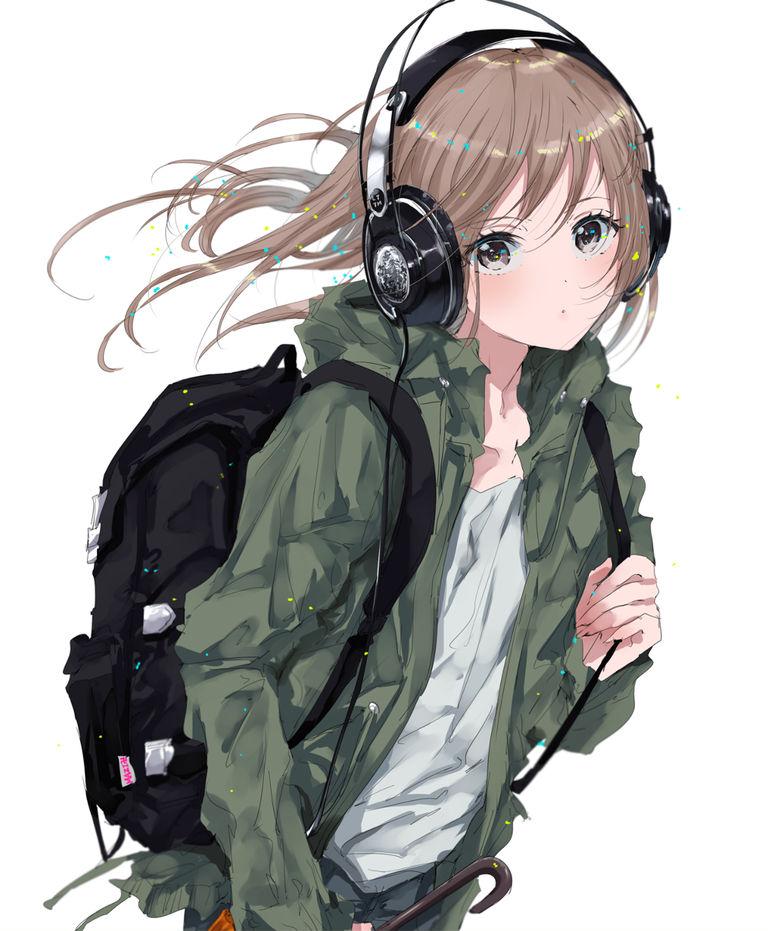 令你著迷的音色。頭戴式耳機少女特輯 动漫精品图片-第3张