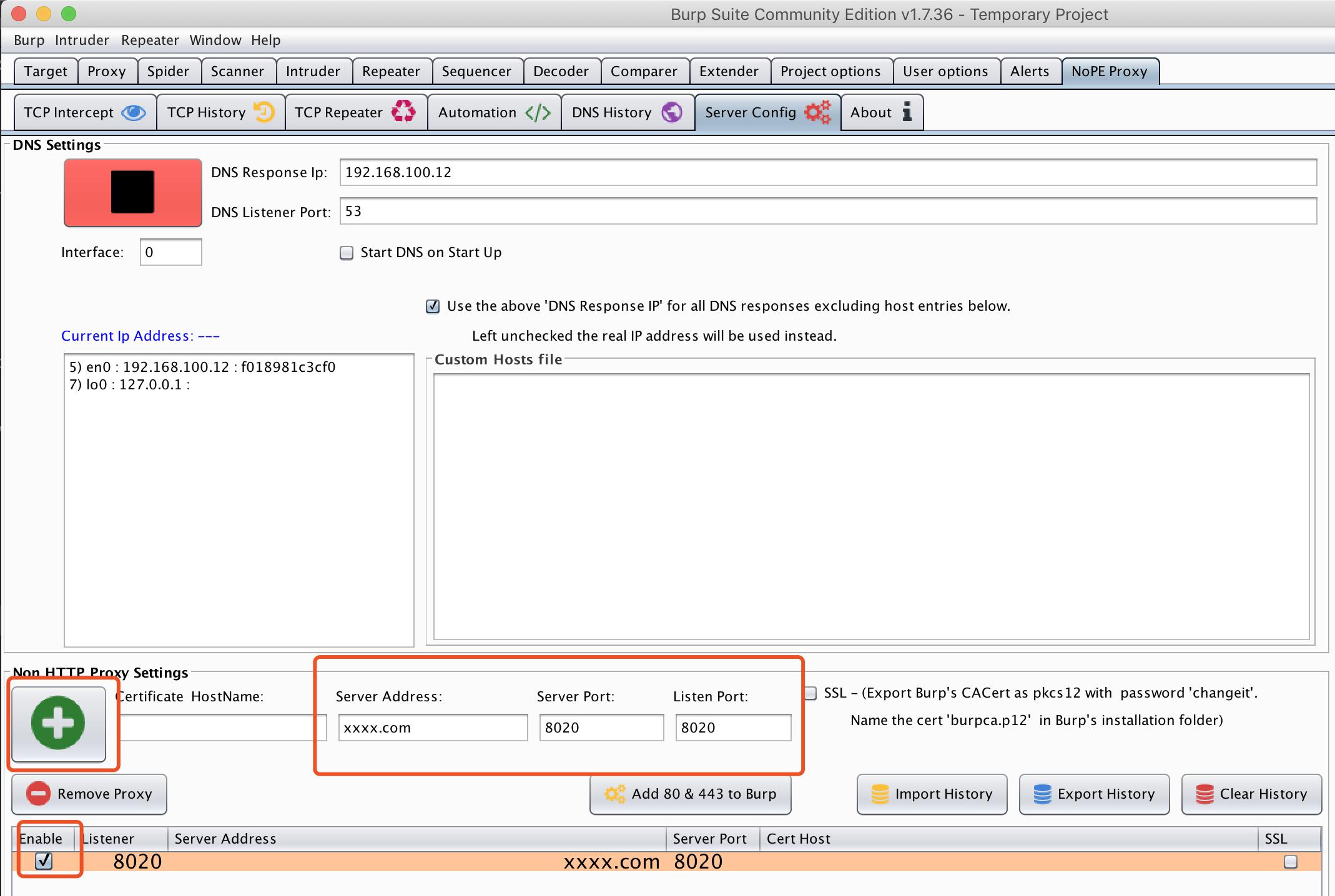 设置http代理:domain、port