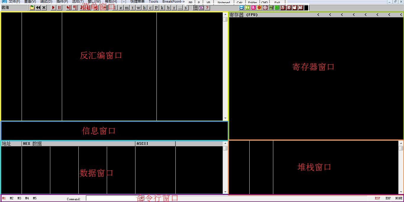 OD界面窗口分布
