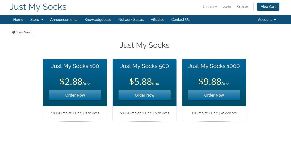 搬瓦工机场 Just My Socks