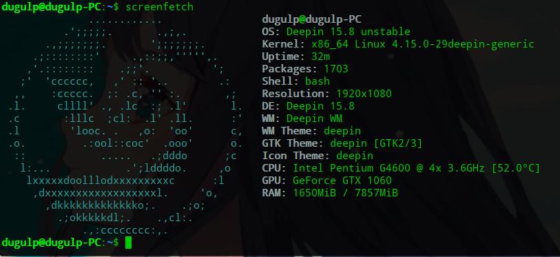 我的电脑配置和linux发行版本