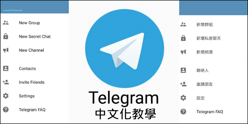 将Telegram改成中文版的介面!中文化档案下载&设定教学(App、PC)