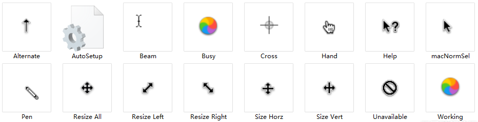 分享一款MAC OS X 鼠标指针 非常漂亮「旋转的彩轮」