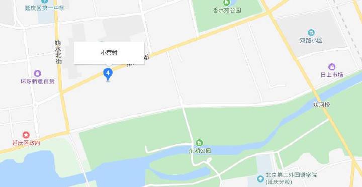 小营村,以及紧挨小营村的石河营地块,靠近区政府,周围有三个公园以及学校、医院