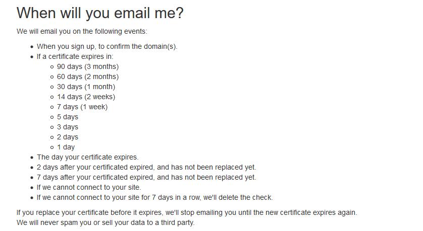 Certificate Expiry Monitor 免费 SSL 监测工具,设置邮箱提醒,避免忘记